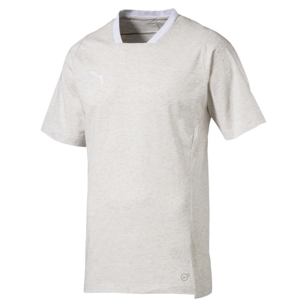 T-shirt blanc cassé chiné homme Puma Final pas cher