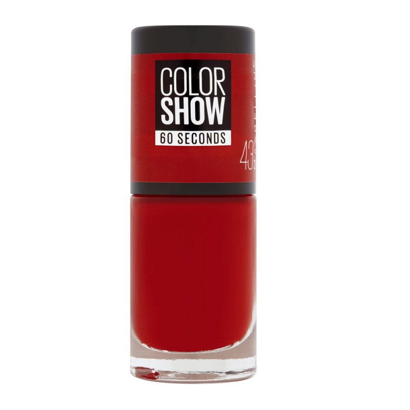 Vernis à Ongles Color Show 60Sec Maybelline NY 43 Red Apple pas cher