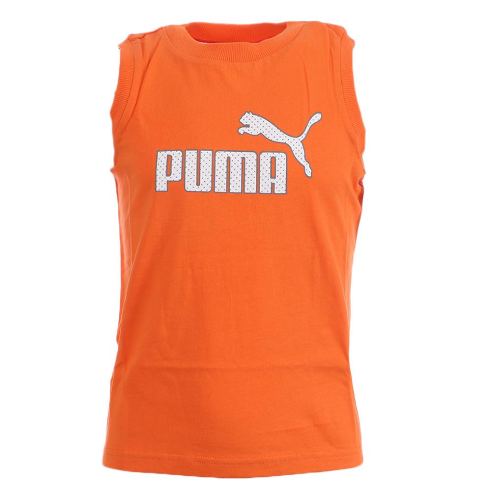 Débardeur orange garçon Puma Large logo pas cher   Espace des Marques