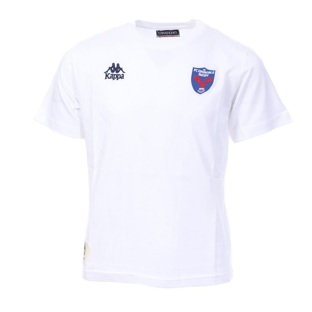 T-shirt Blanc Garçon Kappa SERIF FC Grenoble