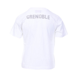T-shirt Blanc Garçon Kappa SERIF FC Grenoble pas cher