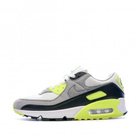 Air Max 90 Baskets gris/blanc/jaune homme Nike pas cher | Espace ...