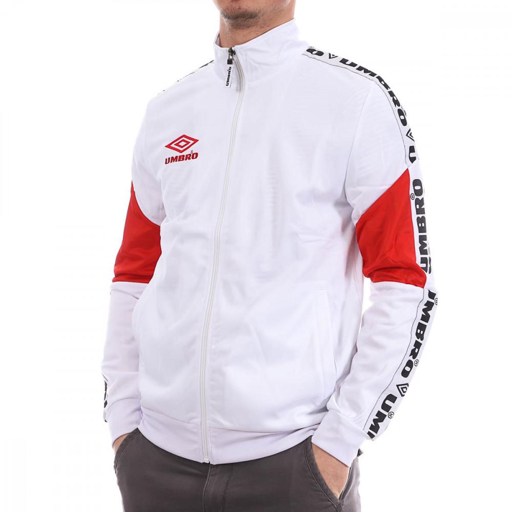 Veste zippée blanche homme Umbro Street pas cher