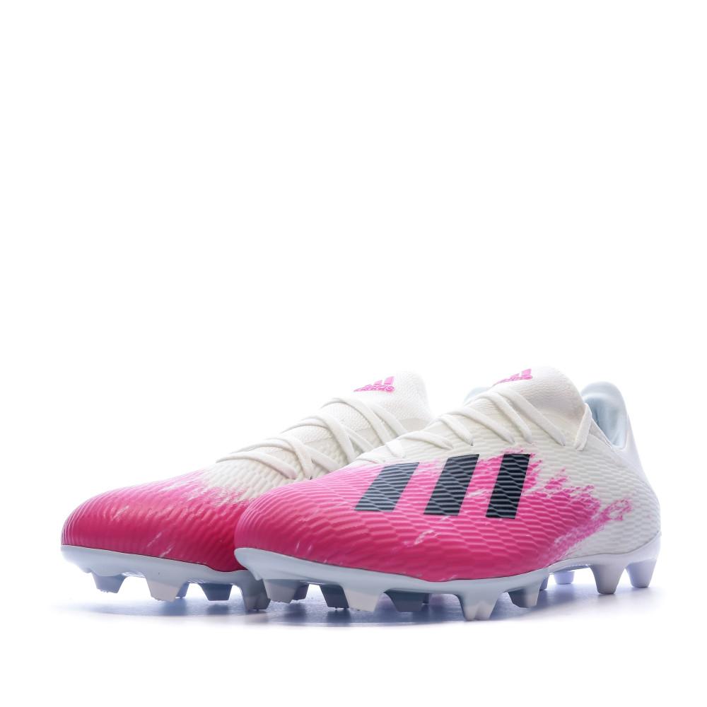X 19.3 Chaussures de foot blanche homme Adidas FG | Espace des Marques