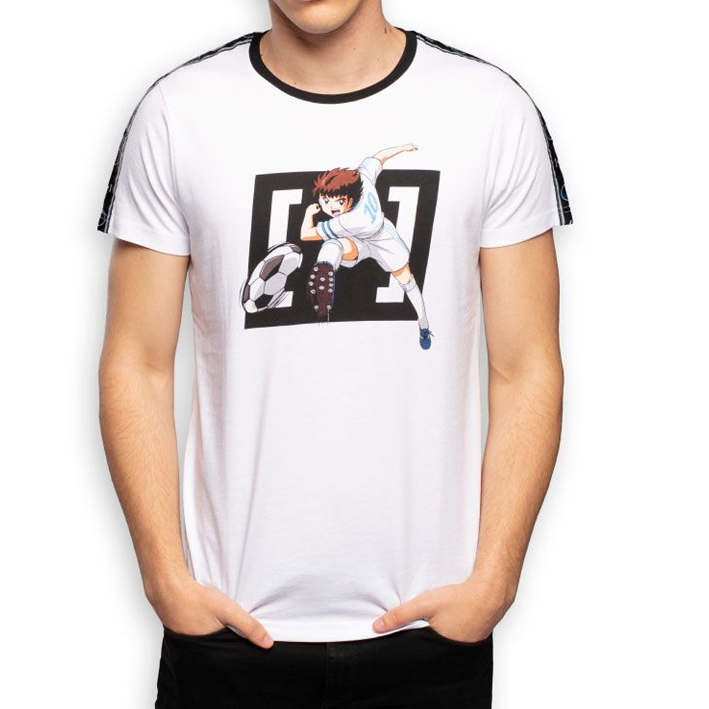 T-Shirt Blanc Homme Capslab CAPTAIN TSUBASA
