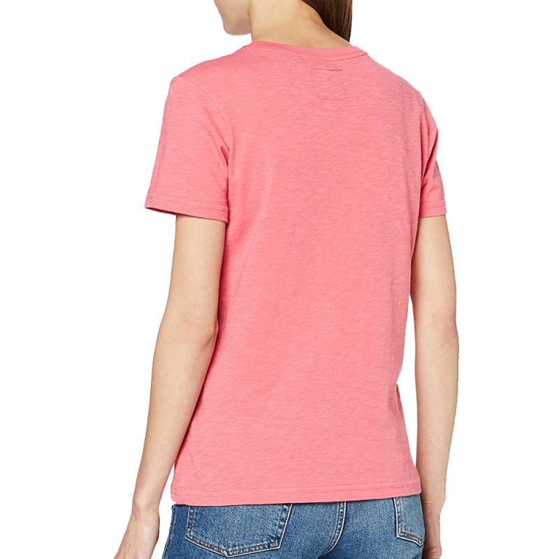 T-Shirt Rose Femme Superdry TEXT INFILL pas cher