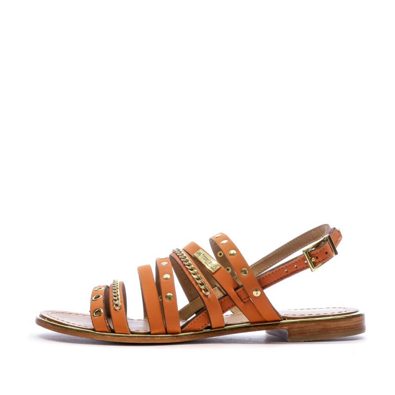Sandales orange femme Les Tropeziennes Haniac