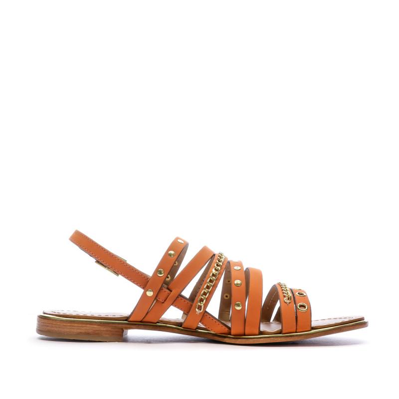 Sandales orange femme Les Tropeziennes Haniac pas cher