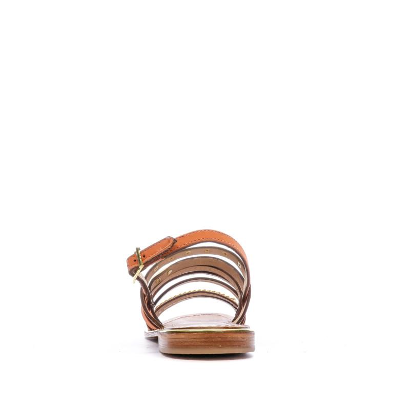 Sandales orange femme Les Tropeziennes Haniac petit prix