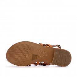 Sandales orange femme Les Tropeziennes Haniac semelle