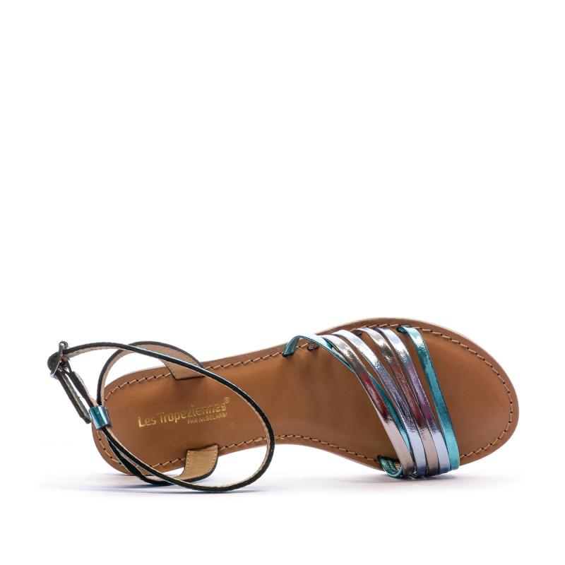 Sandales Multicolore Bleu Femme Les Tropéziennes Hindle prix bas