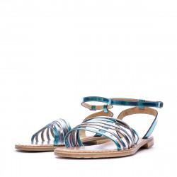 Sandales Multicolore Bleu Femme Les Tropéziennes Hindle destockage