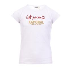 T-Shirt Blanc Fille Kaporal Midinette
