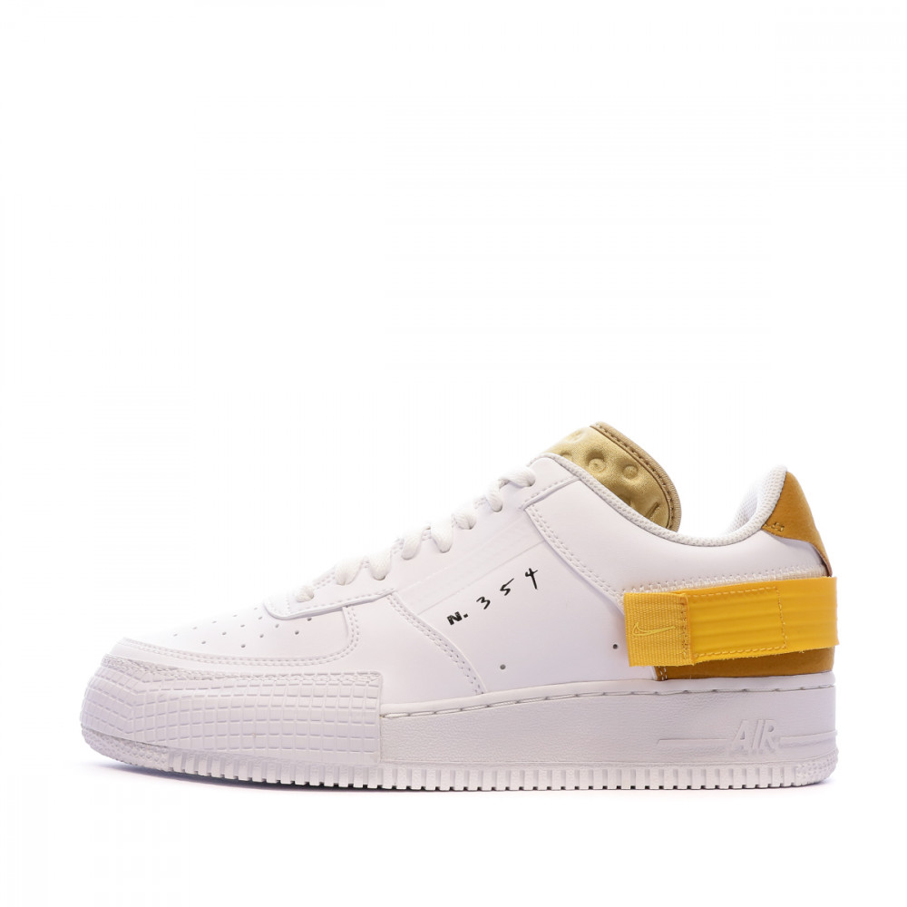 Baskets blanches/Or homme Nike Air Force 1 Type | Espace des Marques