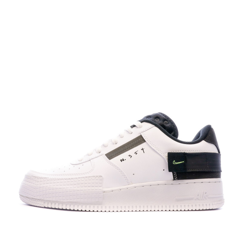 Baskets blanches/noires homme Nike Air Force 1 Type | Espace des ...