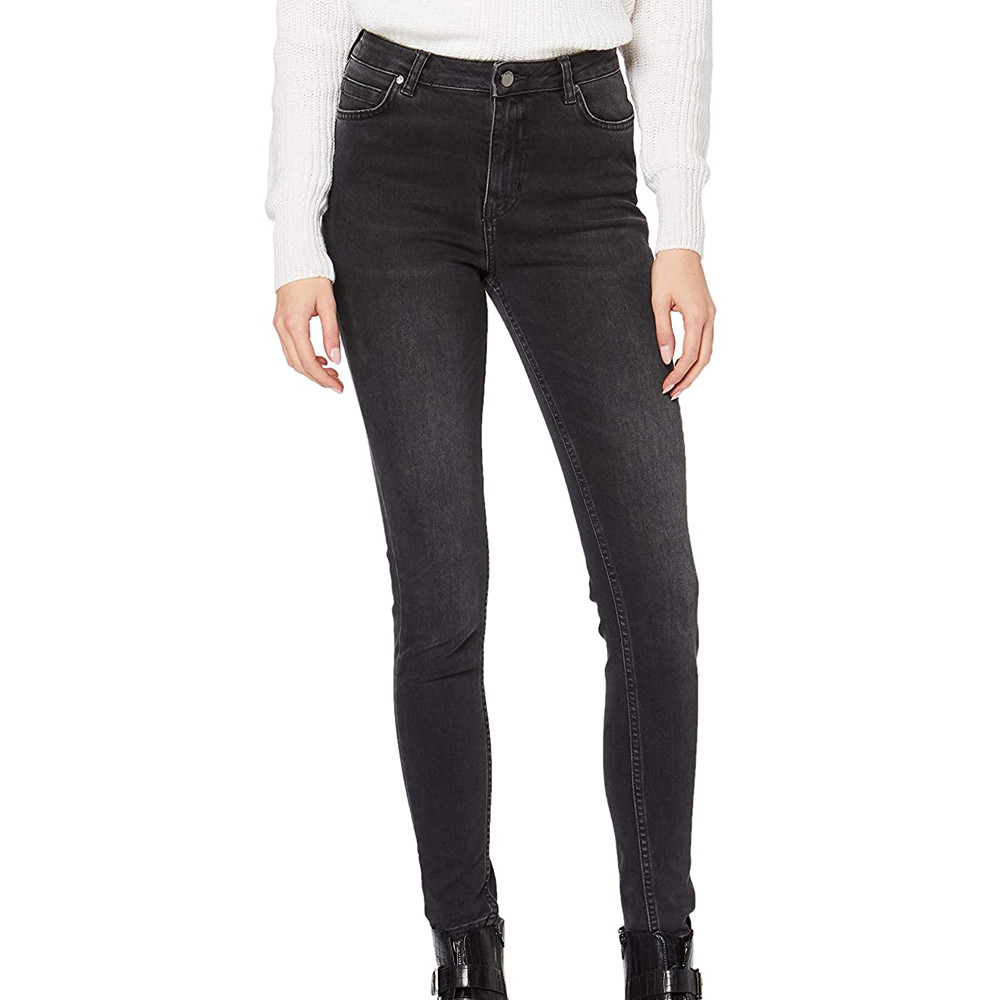 Jeans Skinny Gris Femme Superdry Superthermo