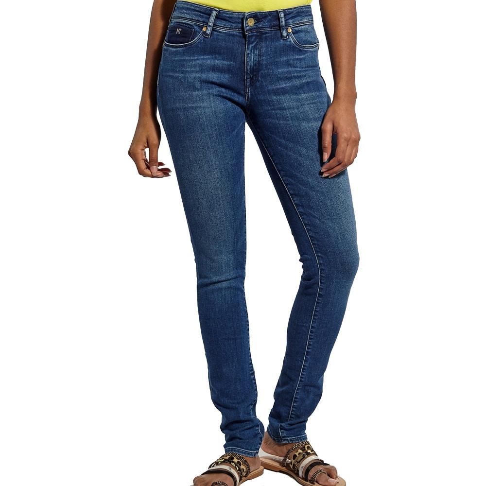 Jeans slim Bleu denim Femme Kaporal Flore