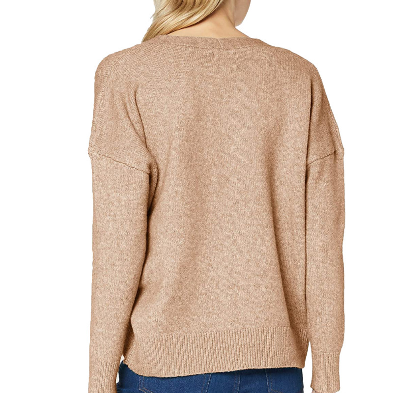 Pull Beige Femme Superdry Isabella Slouch Vee pas cher