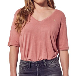 T-shirt Rose Femme Kaporal Paola
