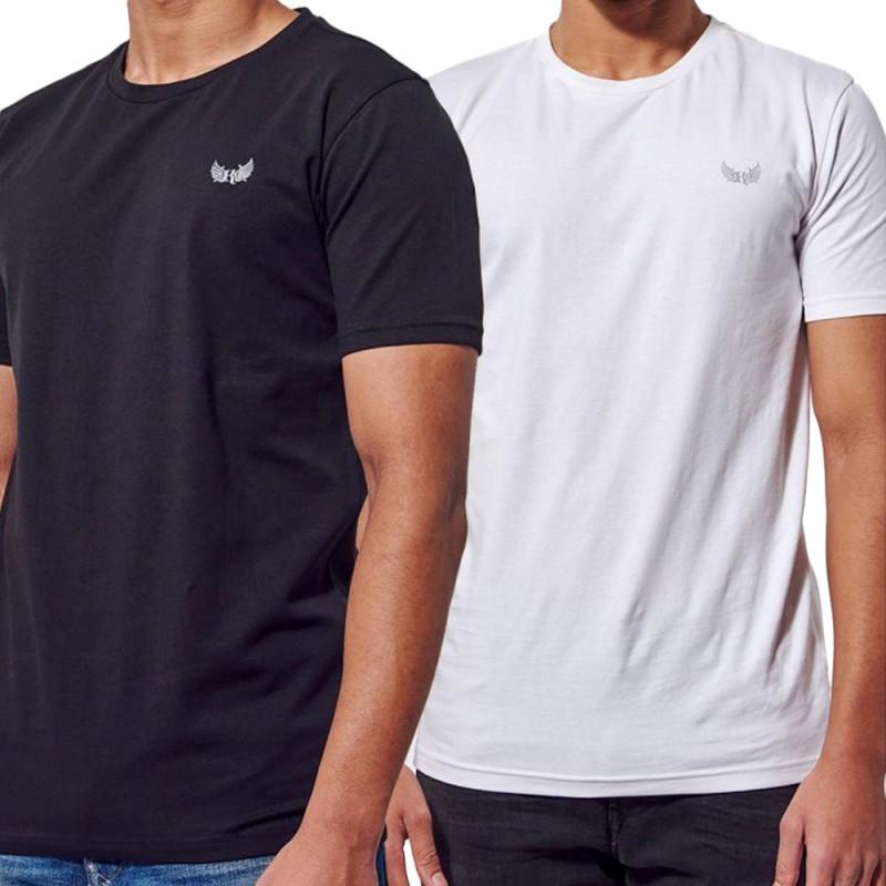 Lot x2 t-shirts blanc/Marine homme Kaporal Rift