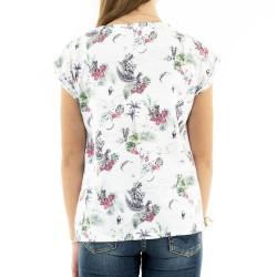 T-shirt Blanc Fille Kaporal Elan pas cher