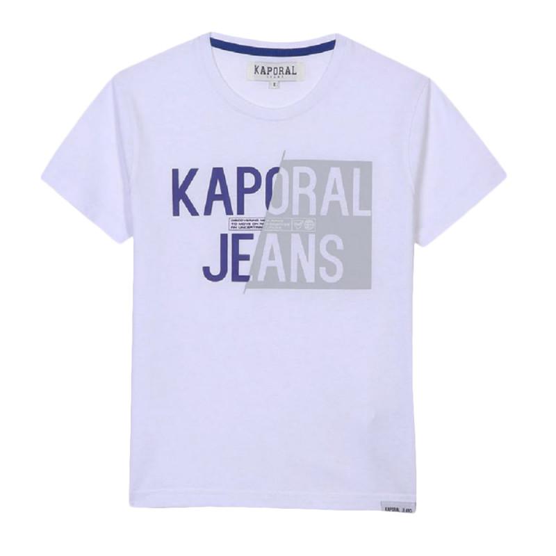T-shirt Blanc Garçon Kaporal Mayo