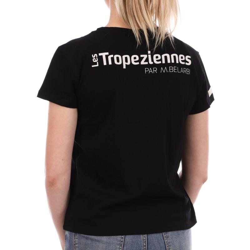 T-shirt Noir Femme Les Tropéziennes Onagre pas cher