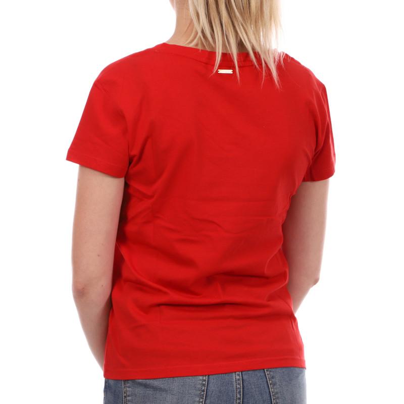 T-shirt rouge femme Les Tropéziennes Trèfle pas cher