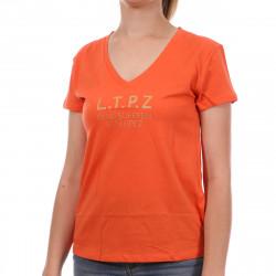 T-shirt Orange Femme Les Tropeziennes Trefle