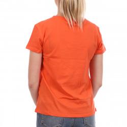 T-shirt Orange Femme Les Tropeziennes Trefle pas cher