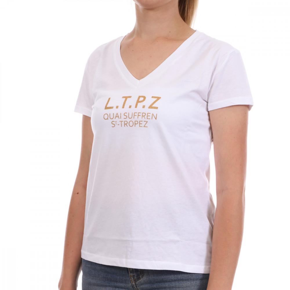 T-shirt Blanc Femme Les Tropeziennes Trefle