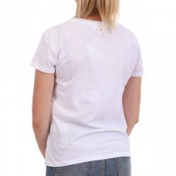 T-shirt Blanc Femme Les Tropeziennes Trefle pas cher
