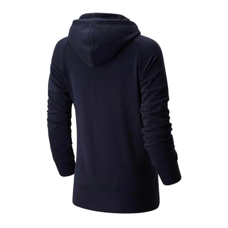 Sweat marine femme New Balance WT91523 Essential Pull Hoodie pas cher