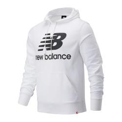 Sweat blanc homme New Balance Essentials Stacked Hoodie