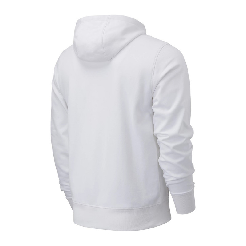 Sweat blanc homme New Balance Essentials Stacked Hoodie pas cher