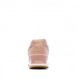 Baskets Rose et Or Femme New Balance WL574 promo
