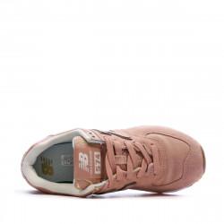 Baskets Rose et Or Femme New Balance WL574 prix bas