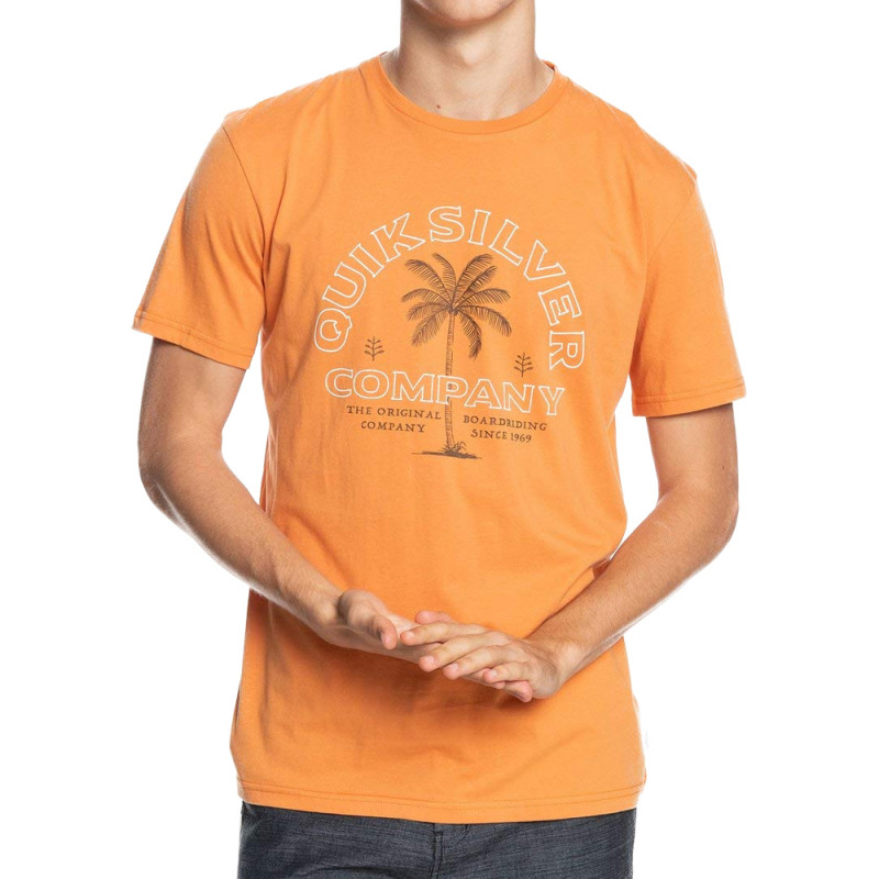 T-shirt Orange Homme Quiksilver Shining Hour