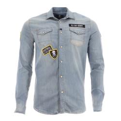 Chemise en jeans Bleue Homme Kaporal Kansa