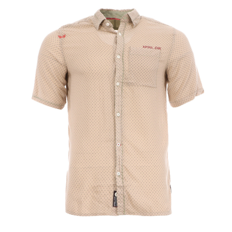 Chemise Taupe Homme Kaporal MC Wimi