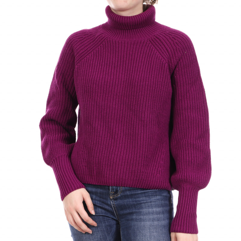 Pull Violet Femme Superdry Amy Ribbed