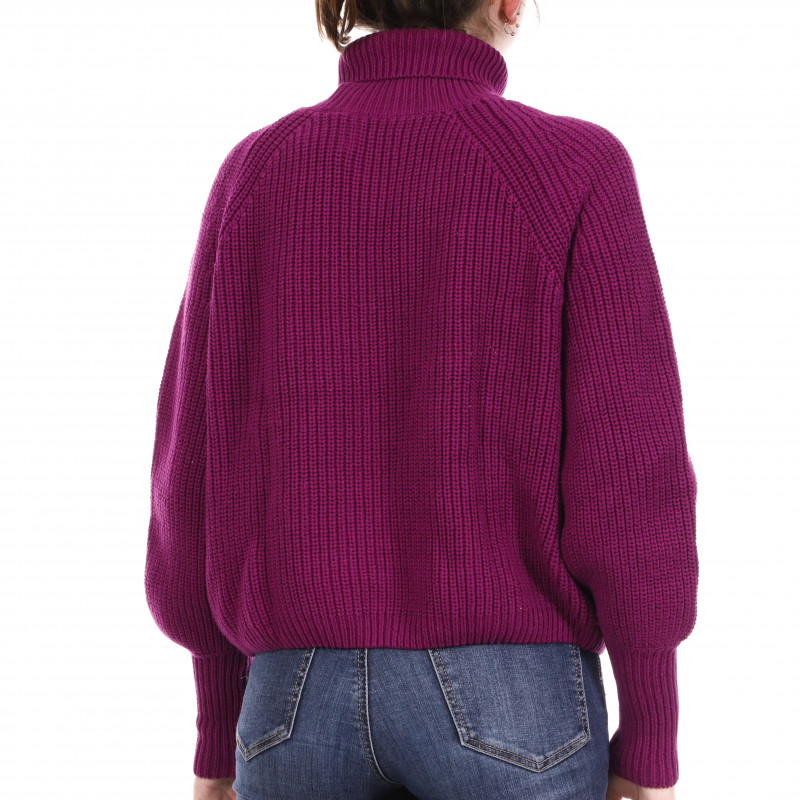 Pull Violet Femme Superdry Amy Ribbed pas cher