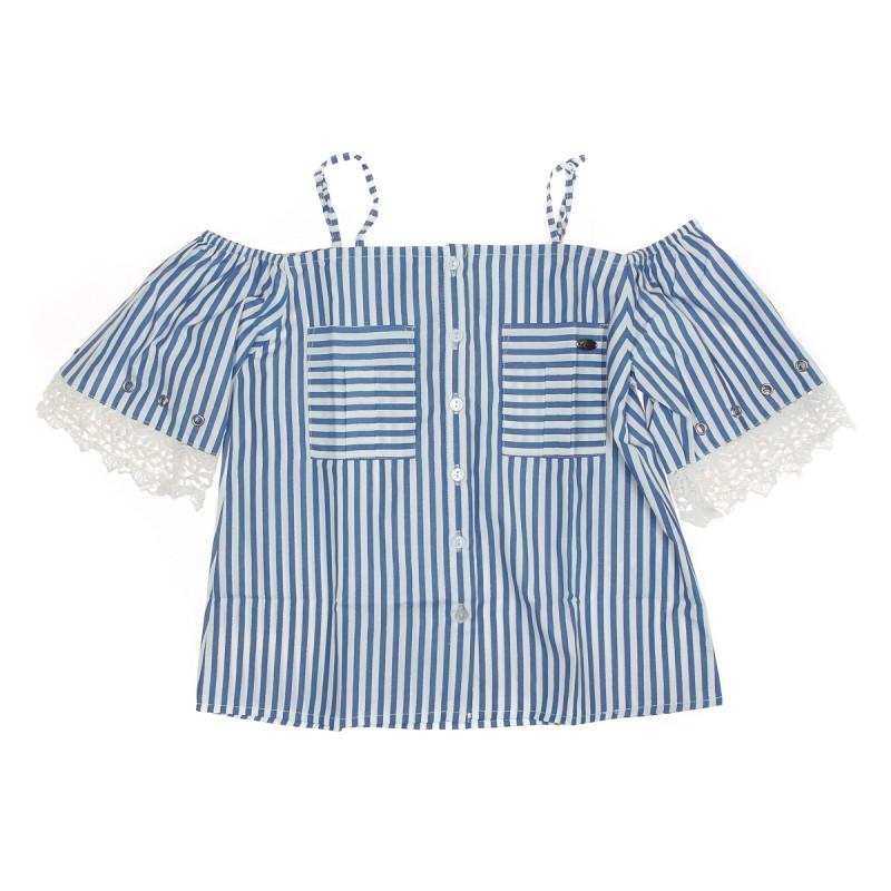 Top à rayures Bleu/Blanc Fille Kaporal Jamie