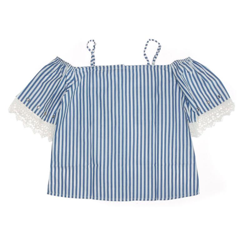 Top à rayures Bleu/Blanc Fille Kaporal Jamie pas cher