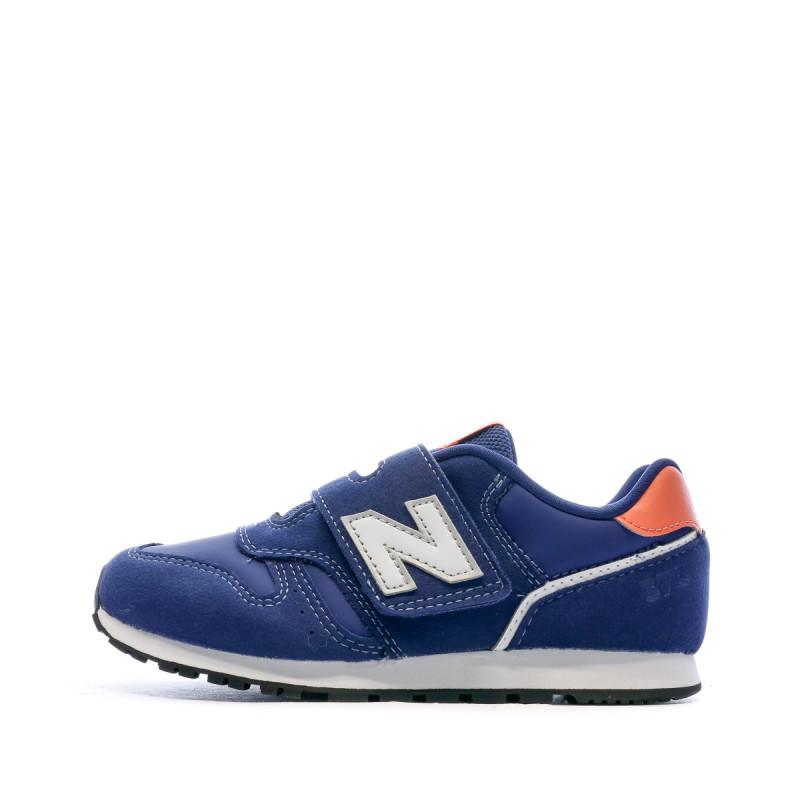 Baskets bleues enfant New Balance Closed Vamp Natural