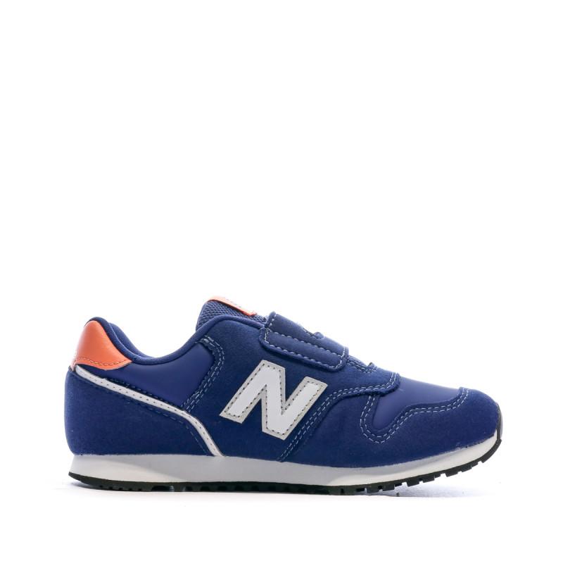 Baskets bleues enfant New Balance Closed Vamp Natural pas cher