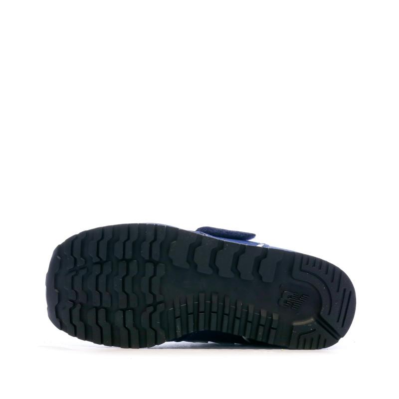 Baskets bleues enfant New Balance Closed Vamp Natural promotion