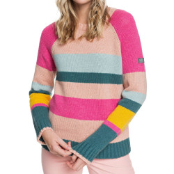Pull à Rayures Multicolore Femme Roxy Cozy Sound