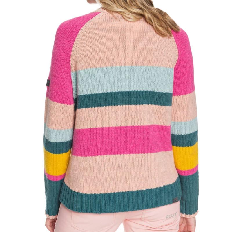 Pull à Rayures Multicolore Femme Roxy Cozy Sound pas cher
