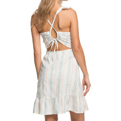Robe à rayures Blanche Femme Roxy Sunday With You pas cher